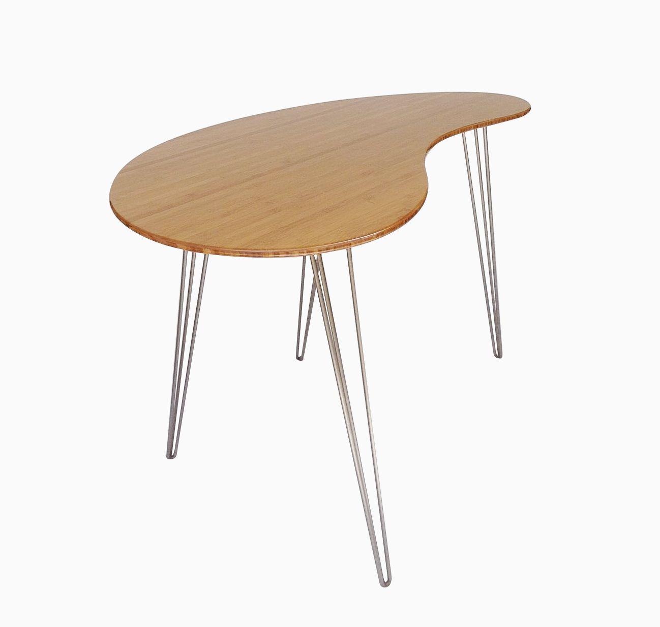 custom standing desk kidney shaped mid. Modren Shaped Custom Made Standing Desk Kidney Shaped Mid Century Modern In Desk Shaped Pinterest