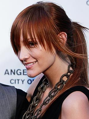 Would You Wear Long Bangs Like Ashlee Hair Color For Black Hair Hollywood Hair Prom Hairstyles For Long Hair