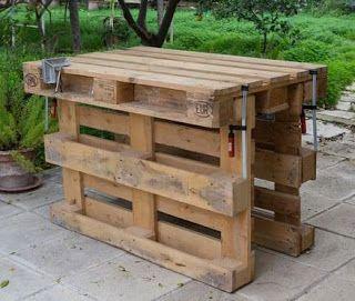 Pallet Work Bench Wood Pinterest Pallet Work Bench