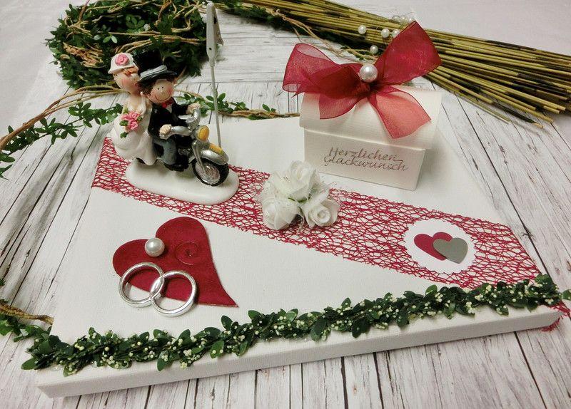 Geldgeschenke Geldgeschenk Hochzeit Brautpaar Mit Motorrad Rot