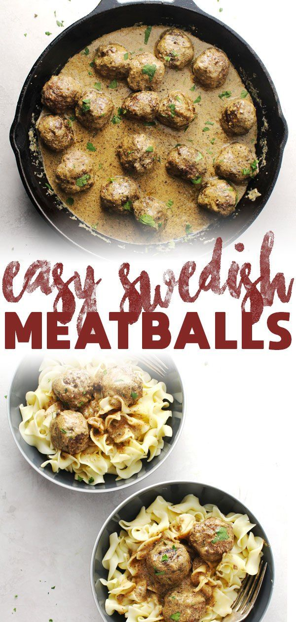 Easy Swedish Meatballs #quickeasydinners