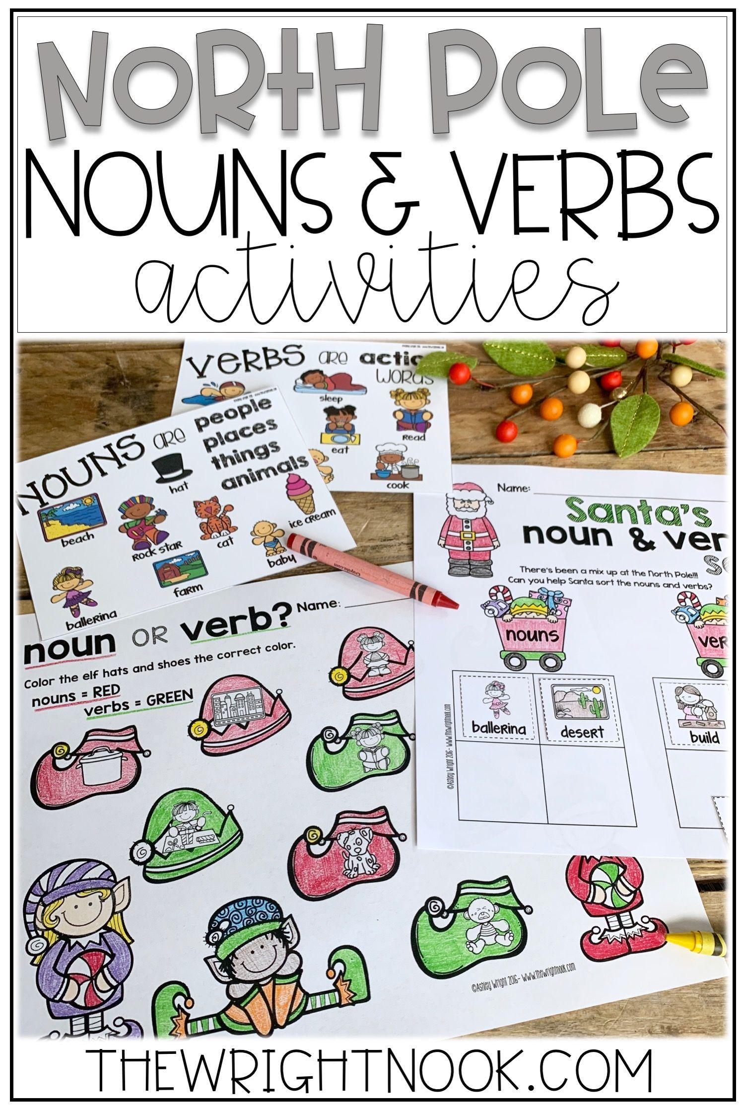 Noun And Verb Christmas Activities