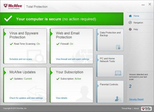 Mcafee Total Protection Internet Security Antispyware Antivirus