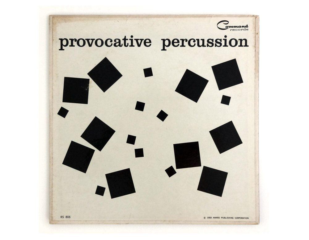 """Josef Albers record album design, 1959. """"Provocative"""