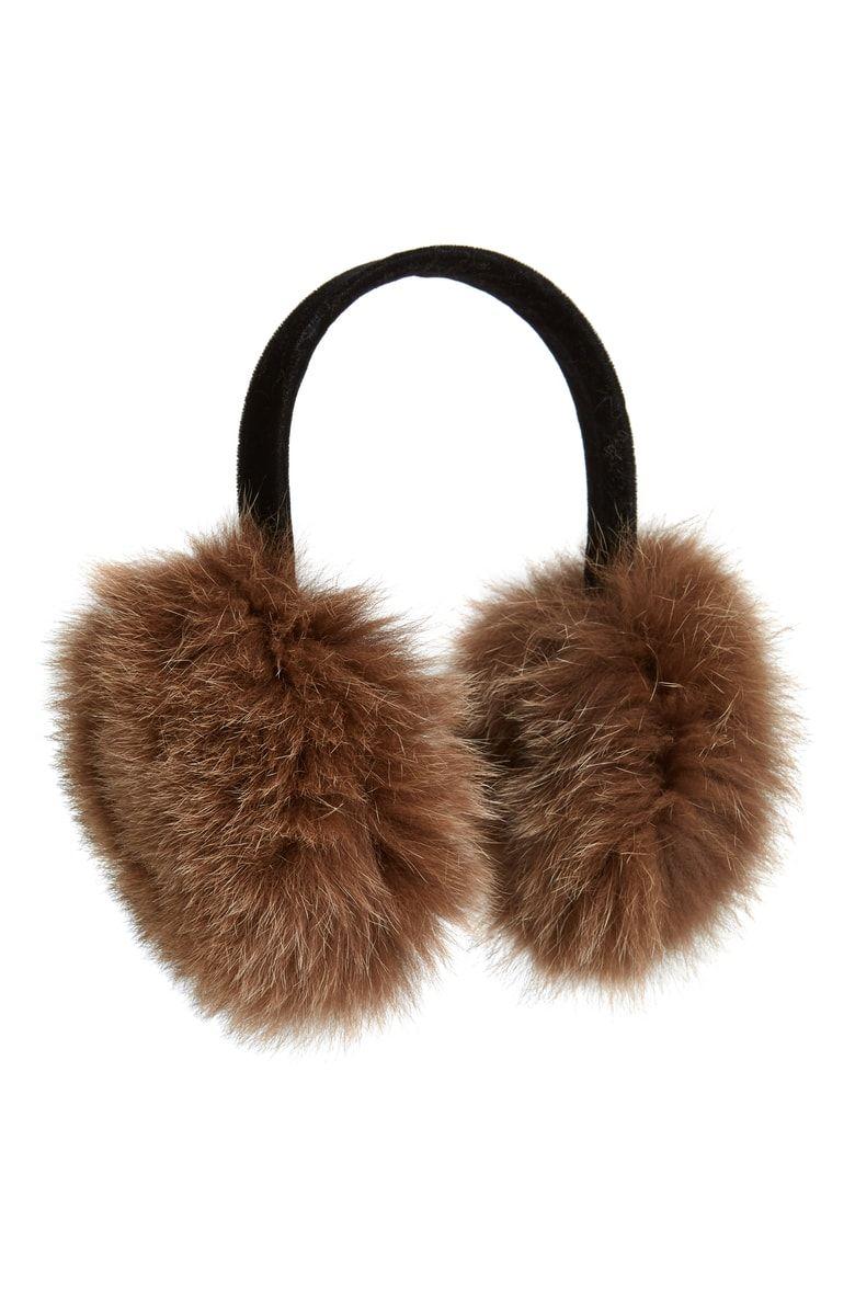3075da817199f Free shipping and returns on Kyi Kyi Genuine Fox Fur Earmuffs at Nordstrom. com.