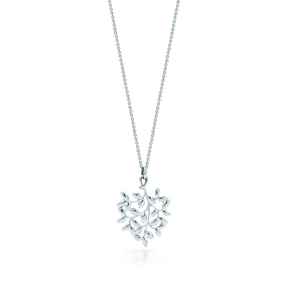 350883736 Paloma Picasso® Olive Leaf pendant in sterling silver, small. | Tiffany & Co .