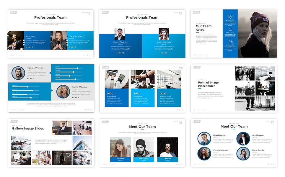 Azure PowerPoint Template 75237 Powerpoint templates