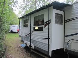 Rv Slide Out Cover Google Search Remodeled Campers Trailer Living Slide In Camper