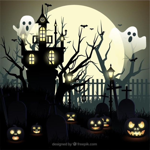 幽霊やお化け屋敷でハロウィーンの背景を無料でダウンロード Casa Stregata Case Stregate Fantasmi