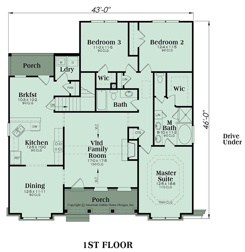 Ranch Plan 1669 Square Feet 3 Bedrooms 2 Bathrooms Rockmart House Plans Ranch Style House Plans Interior Floor Plan