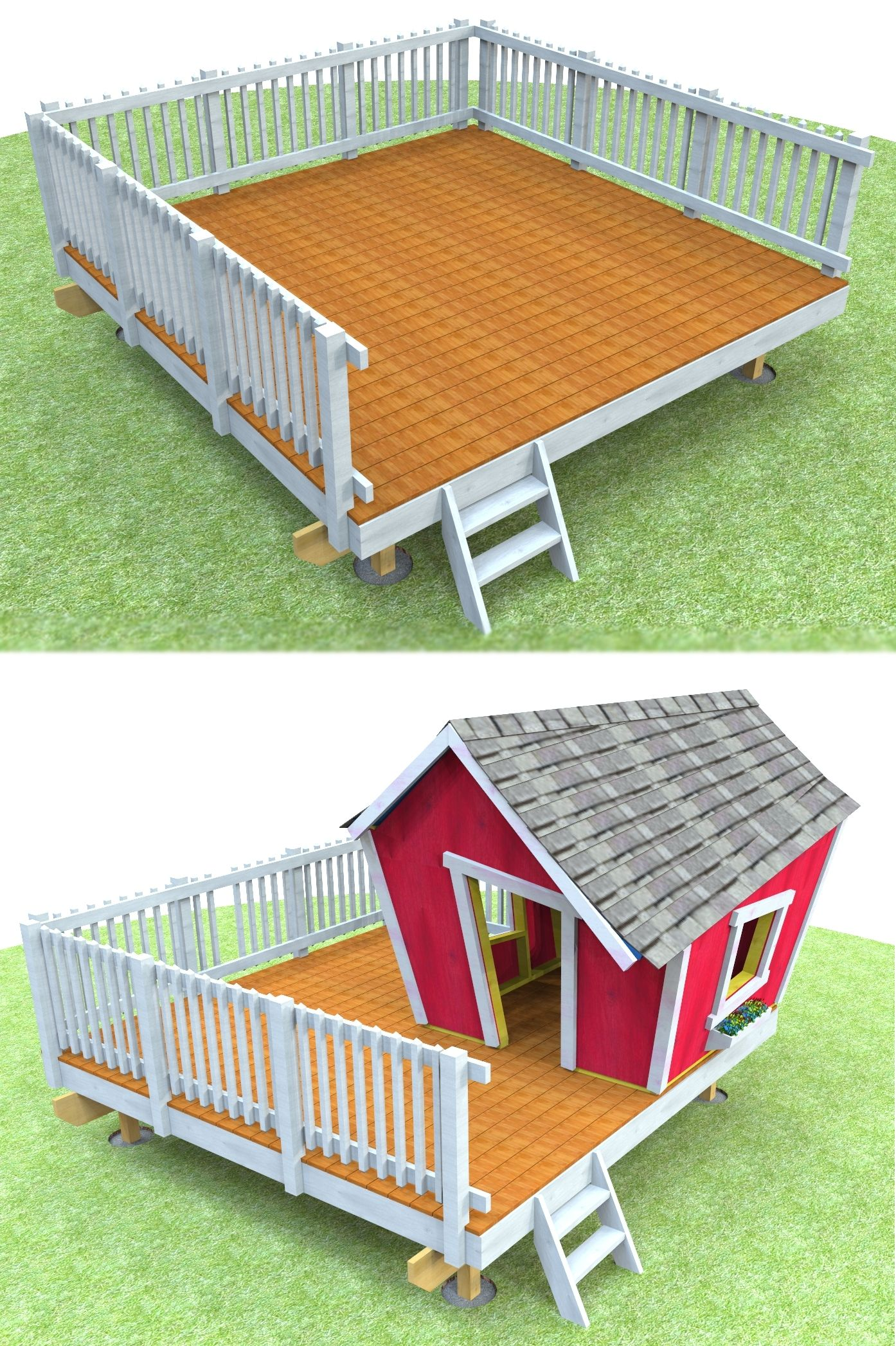 how to build an island deck playhouses backyard and foundation