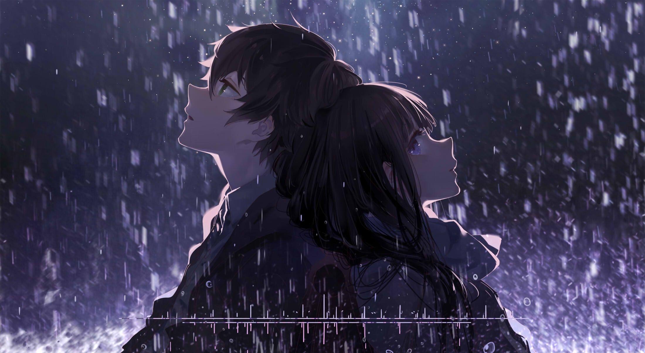 Oreki Houtarou Chitanda Eru Anime Couple Profile View Romance Hyouka Hyouka Gambar Anime Ilustrasi Karakter