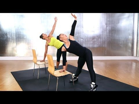 Madonna S Do Anywhere Chair Workout With Madonna S