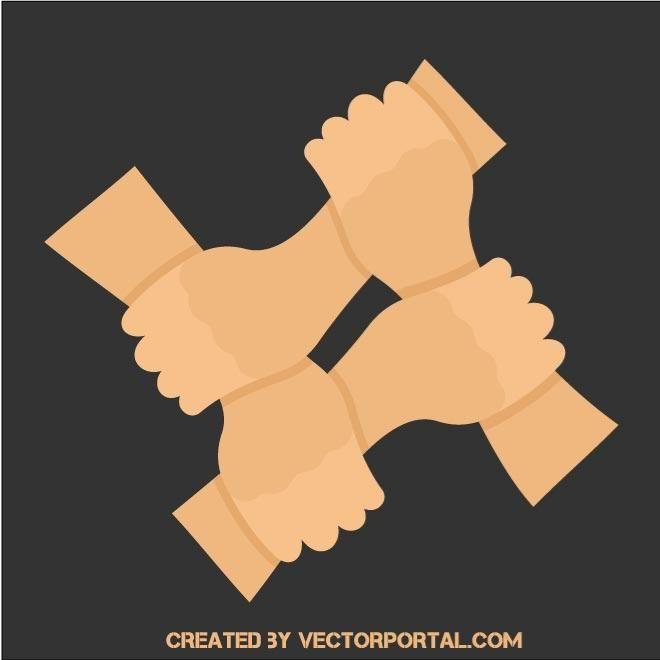 Teamwork Symbol With Human Hands Vector Together Symbol Unity Logo Teamwork Logo