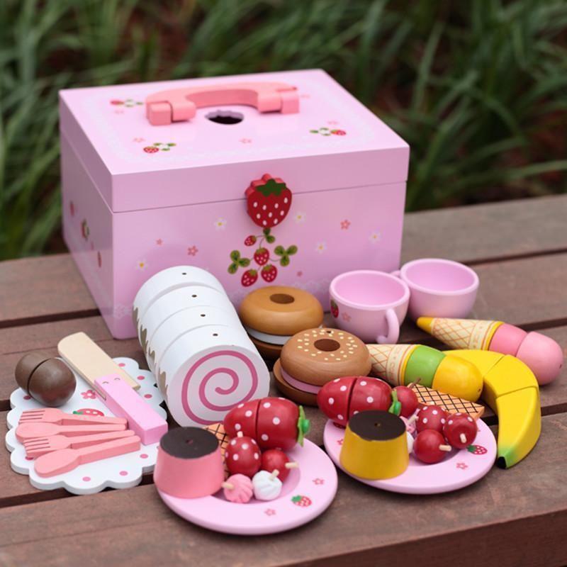 Afternoon tea set pretend roleplay montessori toy kids