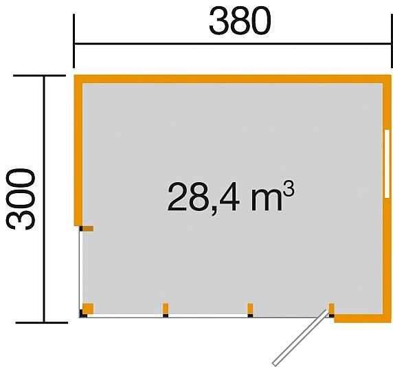 WEKA Gartenhaus »wekaLine 412 Gr.1«, BxT 388x314 cm, inkl