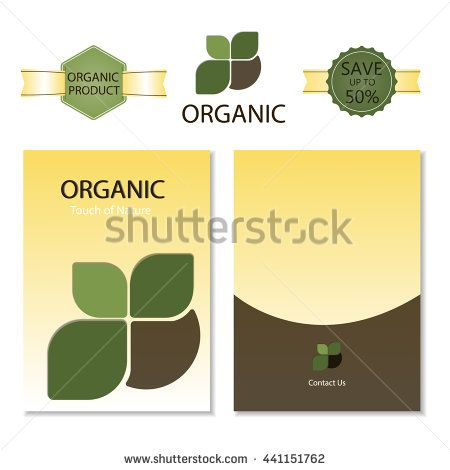 Template for Business artworks. Nature. Brochure Organic and label…