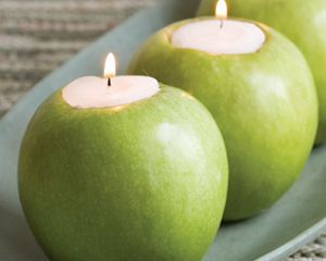 Produce stands from Traverse City to Petoskey are heaped with apples. Turn extras into pretty holiday candleholders with this kid-friendly apple craft.