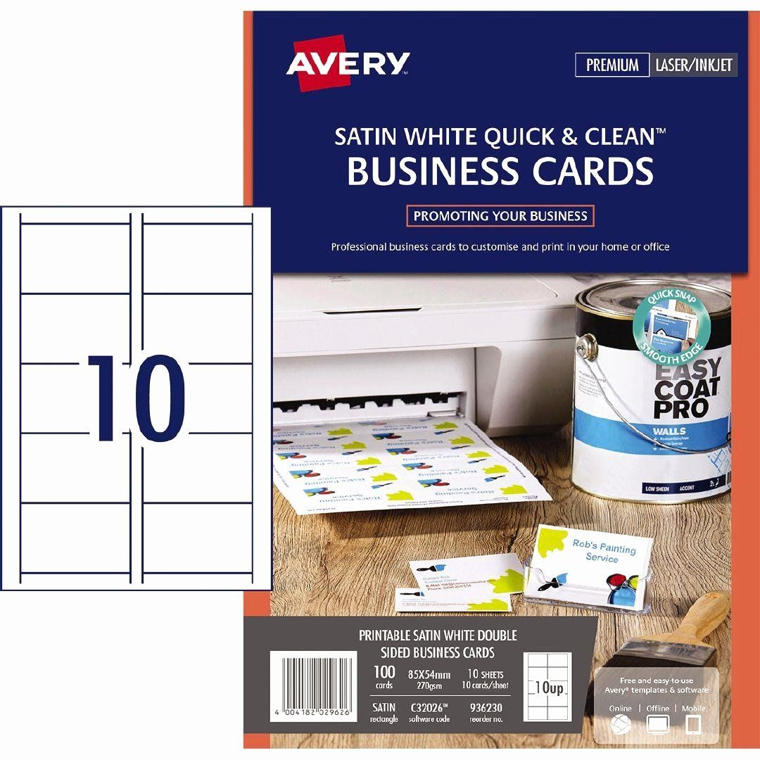 Avery 5x7 Card Template Awesome Hp Paper Q8008a Glossy 250gsm 6 X 4 60 Pack Cleaning Business Cards Card Template Email Template Design