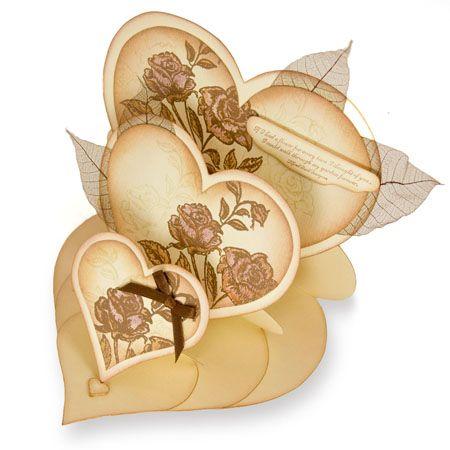 Triple Heart Easel Card