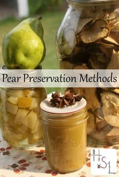 Save the gifts of the fall season for eating in winter and gift giving with these easy and tasty pear preservation methods. http://homespunseasonalliving.com/pear-preservation-methods/