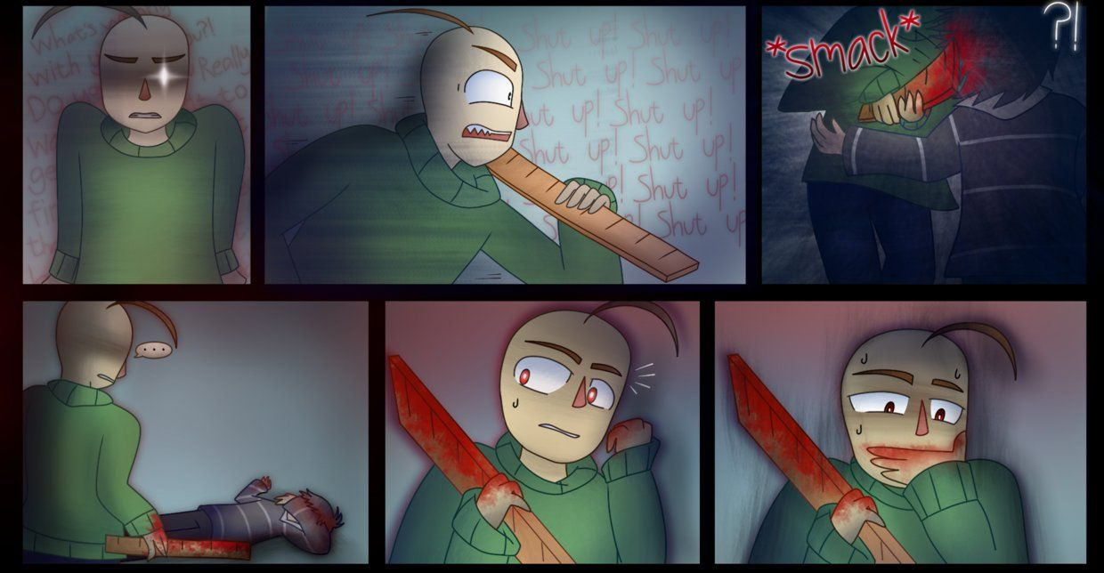 Baldi S Basics Comic Part 4 With Images Basic Spooky Games