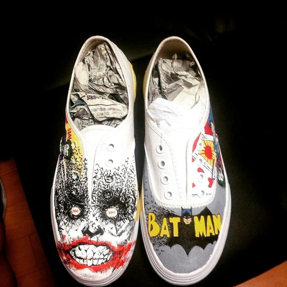50b06bdc7b13 Batman Joker Vans Custom Shoes