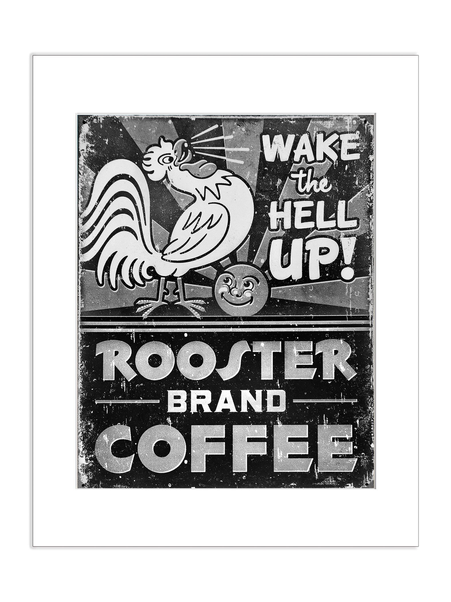 Rooster coffee wake the hell up size crop recommendations available in sizes