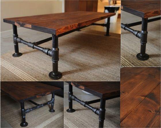 Diy industrial pipe coffee table diy industrial pipe coffee table do it yourself fun ideas solutioingenieria Images