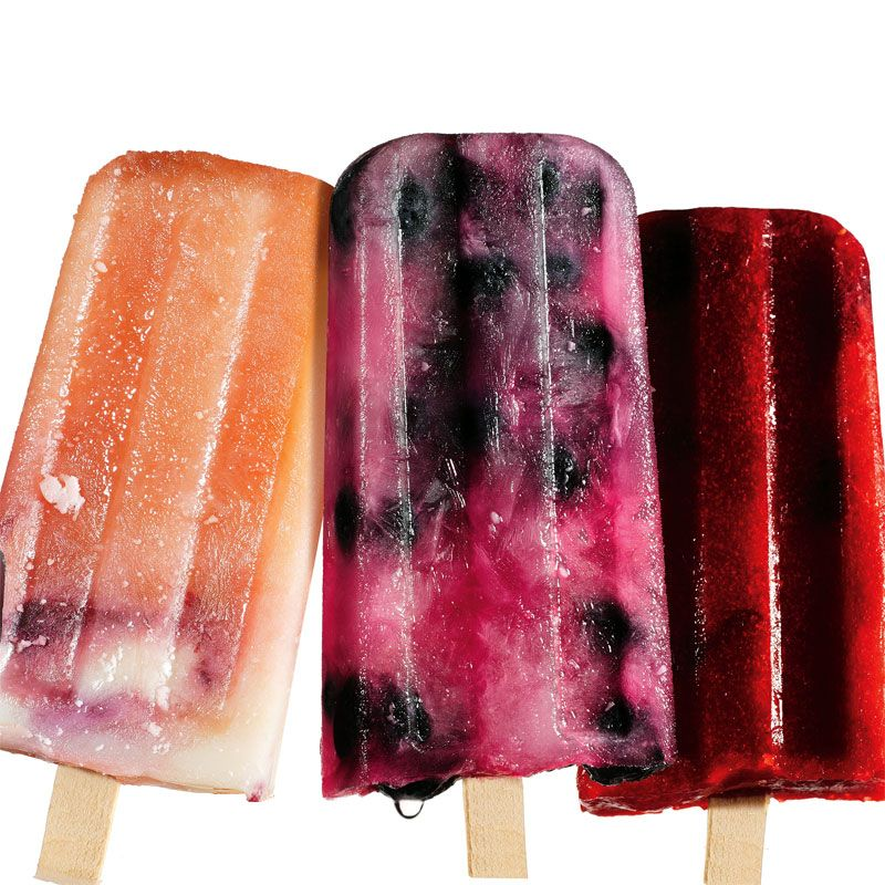Healthy Fresh Popsicle Recipes -  These gourmet ice pops aren't just delish treats for hot summer days - they're also health food on a stick!