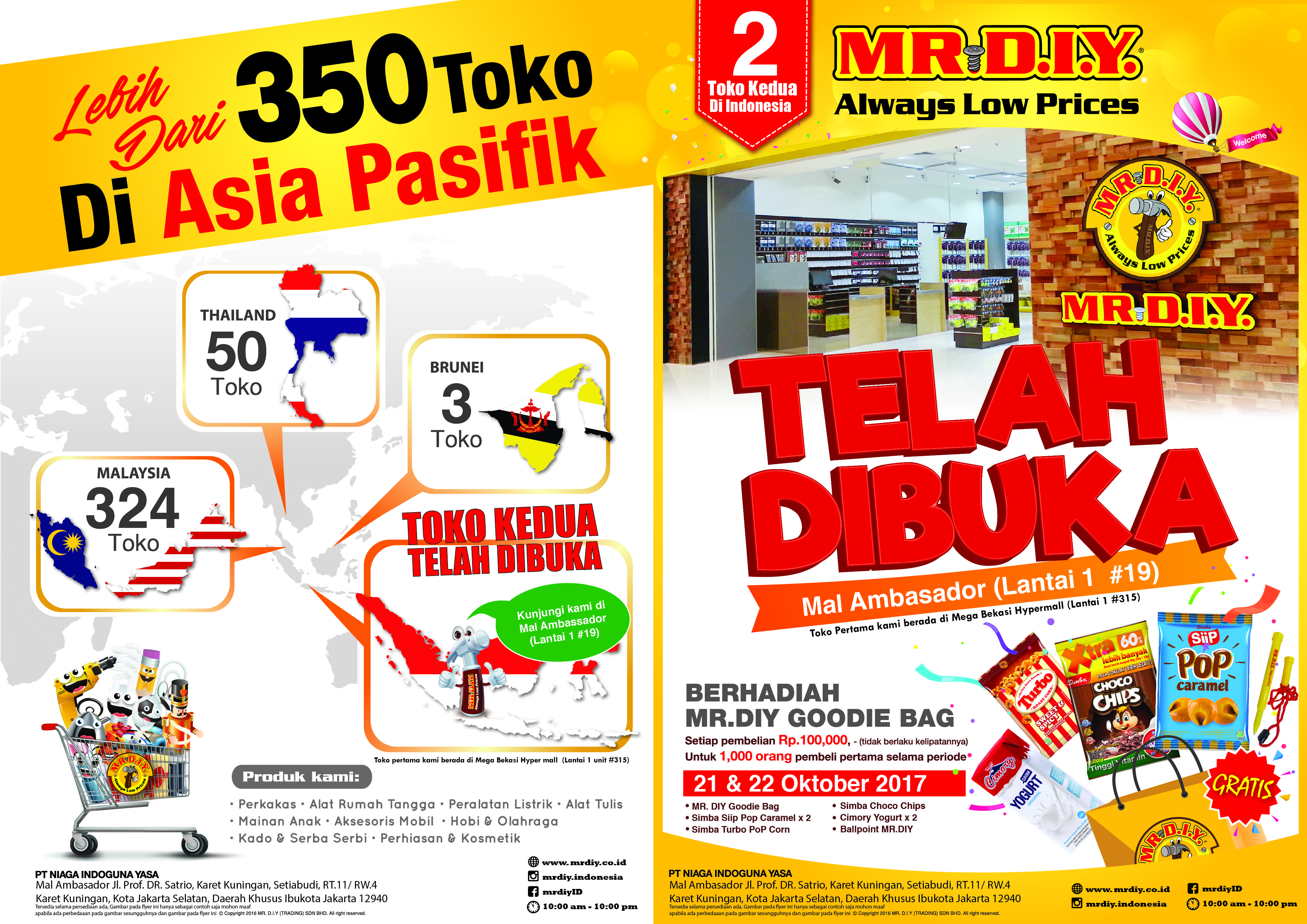 flyer a4 diy mrdiy indonesia promotion retail