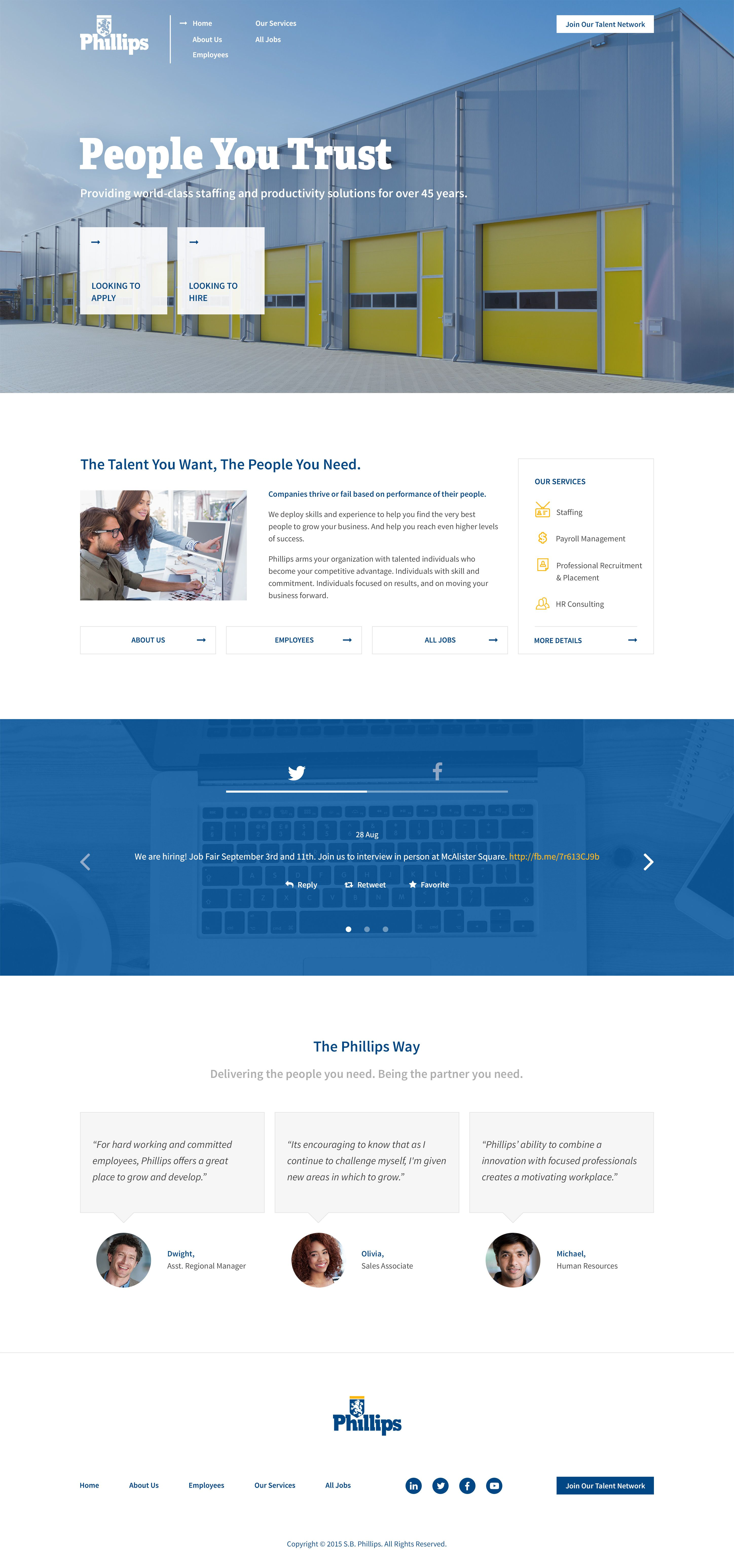 Phillips Staffing - Careers - Home Page - Web Design   Lucifer The ...