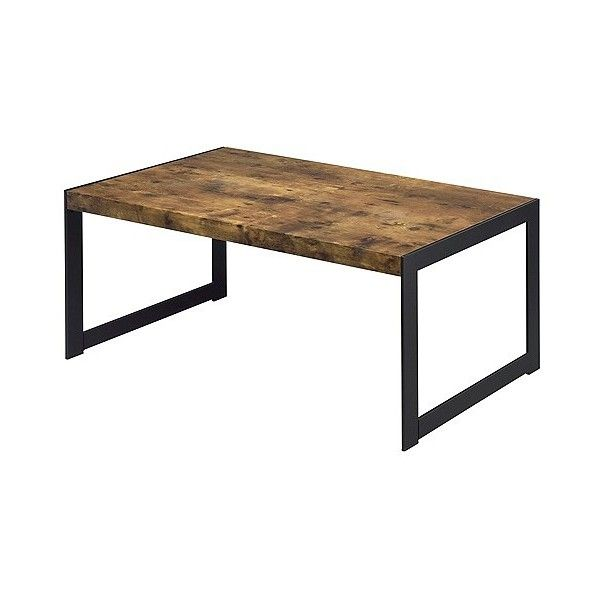 Industrial Finish Coffee Table ($180) ❤ liked on Polyvore featuring home, furniture, tables, accent tables, brown, industrial table, industrial furniture, industrial home furniture, brown table and colored furniture