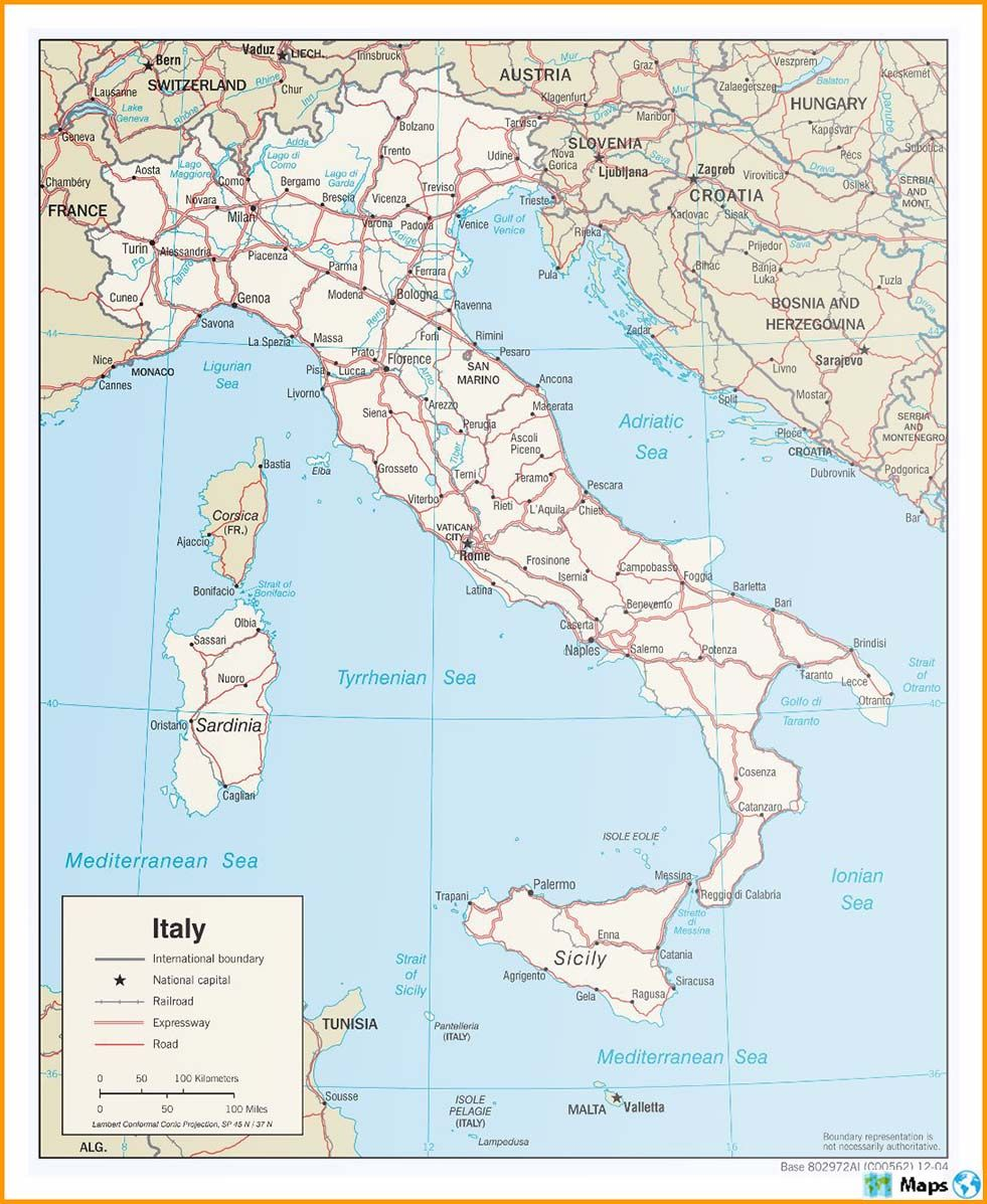 Cartina Dell Italia Stradale.Maps Of Italy Complete Colection Of Maps Of The World C Corsica Ljubljana Dubrovnik