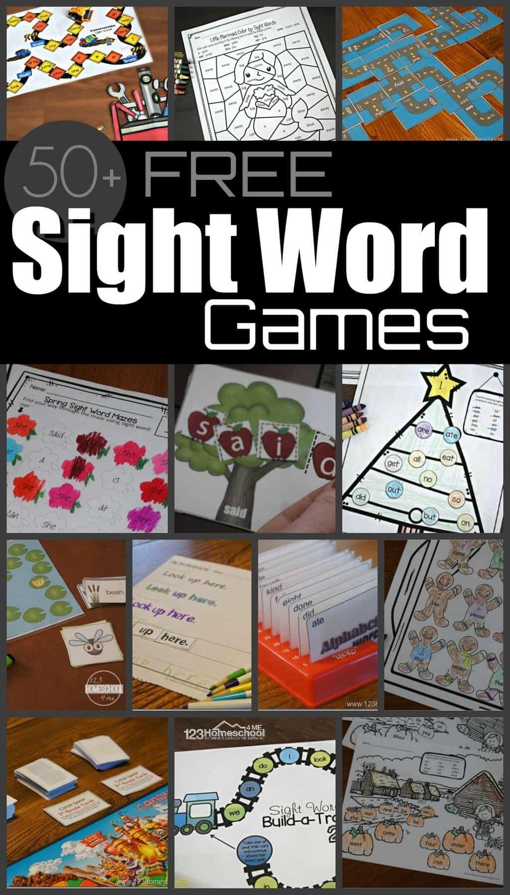 Free Printable Sight Words List