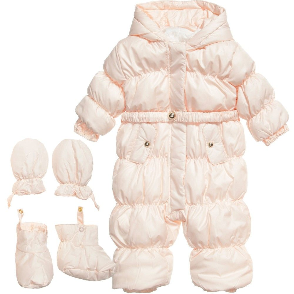 2e108ddccf2c CHLOE Baby Girls Pink Snowsuit