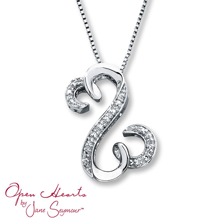 188a7ee11 Kay - Diamond Necklace 1/20 ct tw Round-Cut Sterling Silver | WISH ...