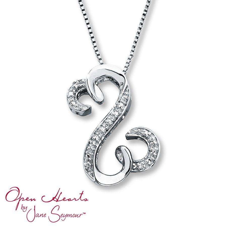 Artistry Diamonds Heart Locket Necklace 1/20 ct tw Diamonds Sterling Silver xVFnP