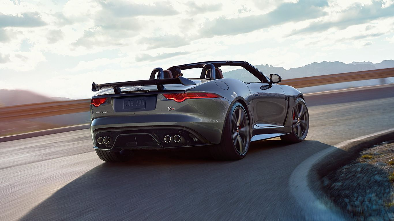 Jaguar F Type Svr Convertible Shown In Ammonite Grey Jaguar F Type Best Road Trip Cars Jaguar