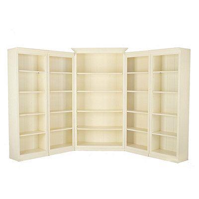 Drool. Cream colored corner bookcase solution.   $2966
