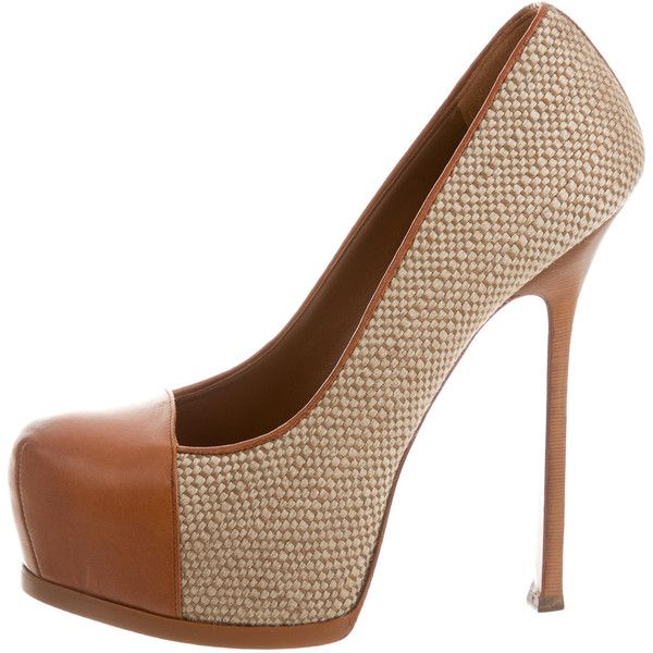 Yves Saint Laurent Woven Tribute Two Pumps shipping outlet store online cheap sale perfect cheap sale 2014 new cheap sale low shipping fee cheap from china AlrMFZu4T3