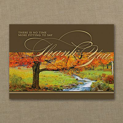 Thanksgiving sentiments card a rushing creek meanders by a tree thanksgiving sentiments card a rushing creek meanders by a tree dressed in the beautiful colors of m4hsunfo