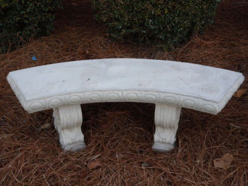 48 Curved Concrete Bench With Legs Scroll Design Cement Bench Patio Bench Concrete Bench Patio Bench Concrete Bench Outdoor