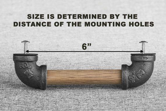 holz schwarz eisen rohr knauf rustikale industrie k che werkstatt pinterest rohre. Black Bedroom Furniture Sets. Home Design Ideas