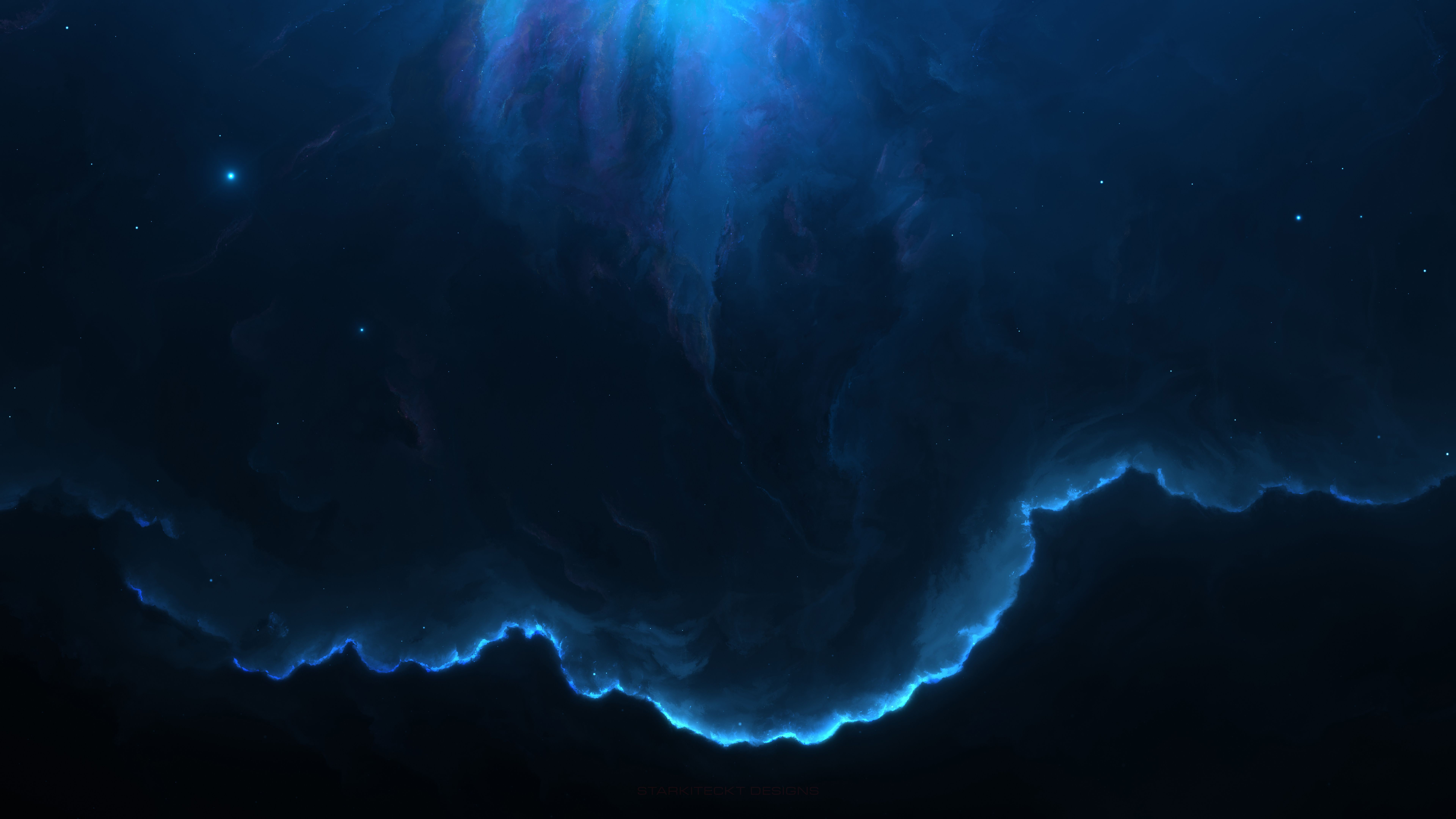 7680x4320 7680x4320 Nebula Space Blue 12k 8k Hd 4k Wallpapers Images Tapete
