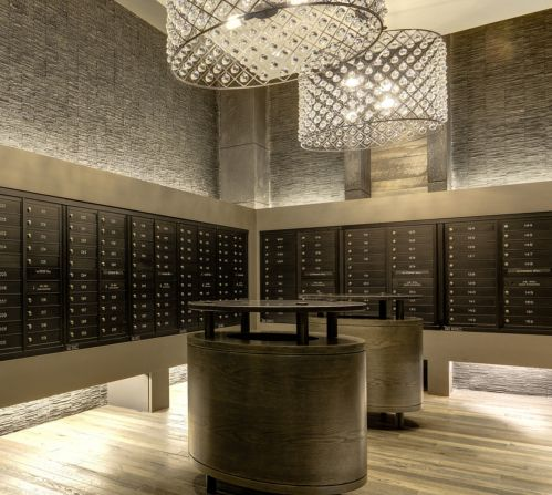 Resident Mailroom At The Frasier Luxury Apartment Community In Alexandria,  VA