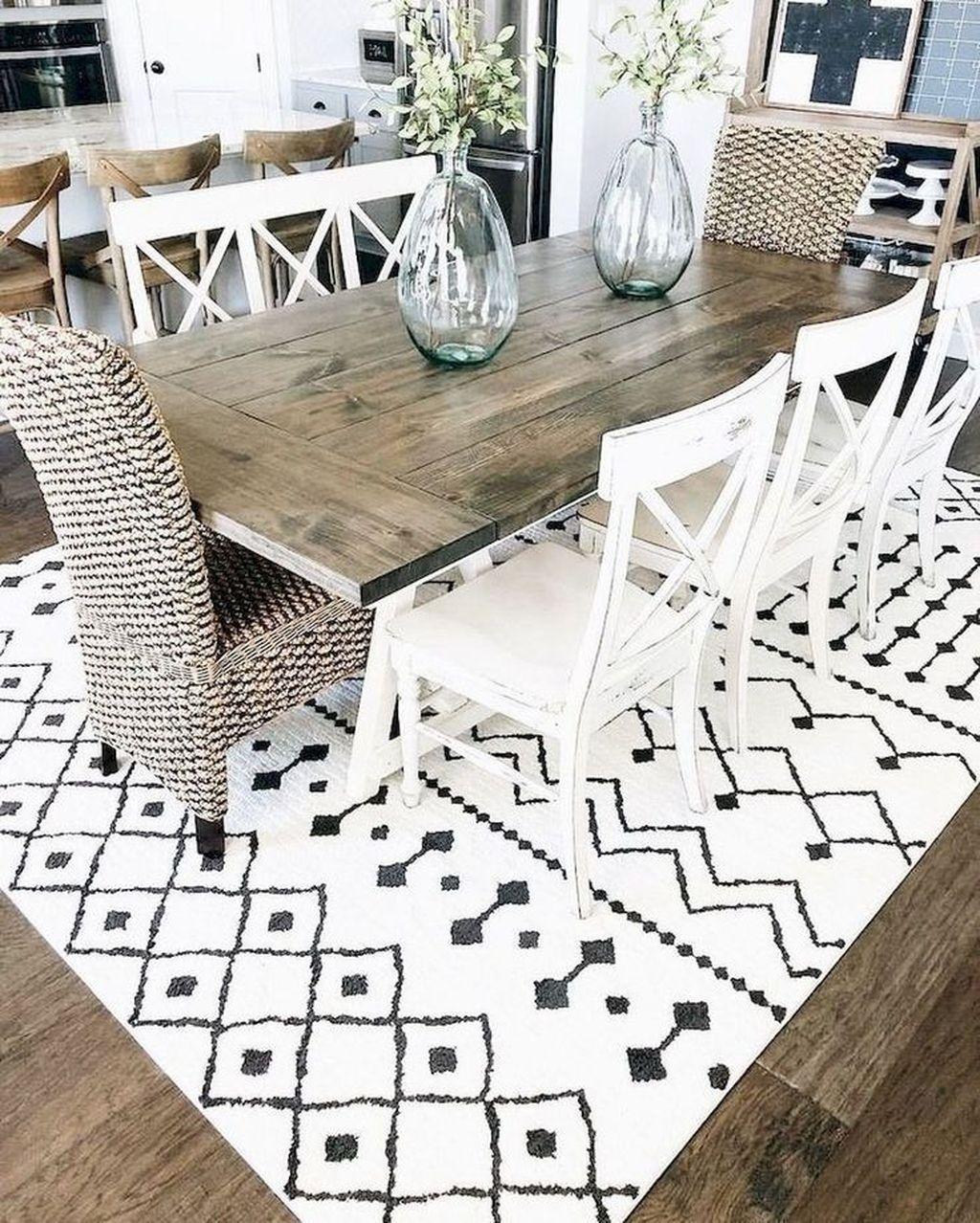 43 Minimalist Dining Room Decor Ideas With Farmhouse Style #modernfarmhousestyle