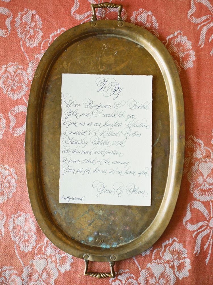 Design House Of Moira | Victoria Rothwell | Calligraphy Wedding Invitations