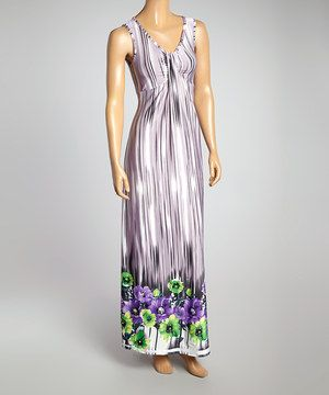 This Gray & Purple Tie-Dye Maxi Dress by Jai Creations is perfect! #zulilyfinds