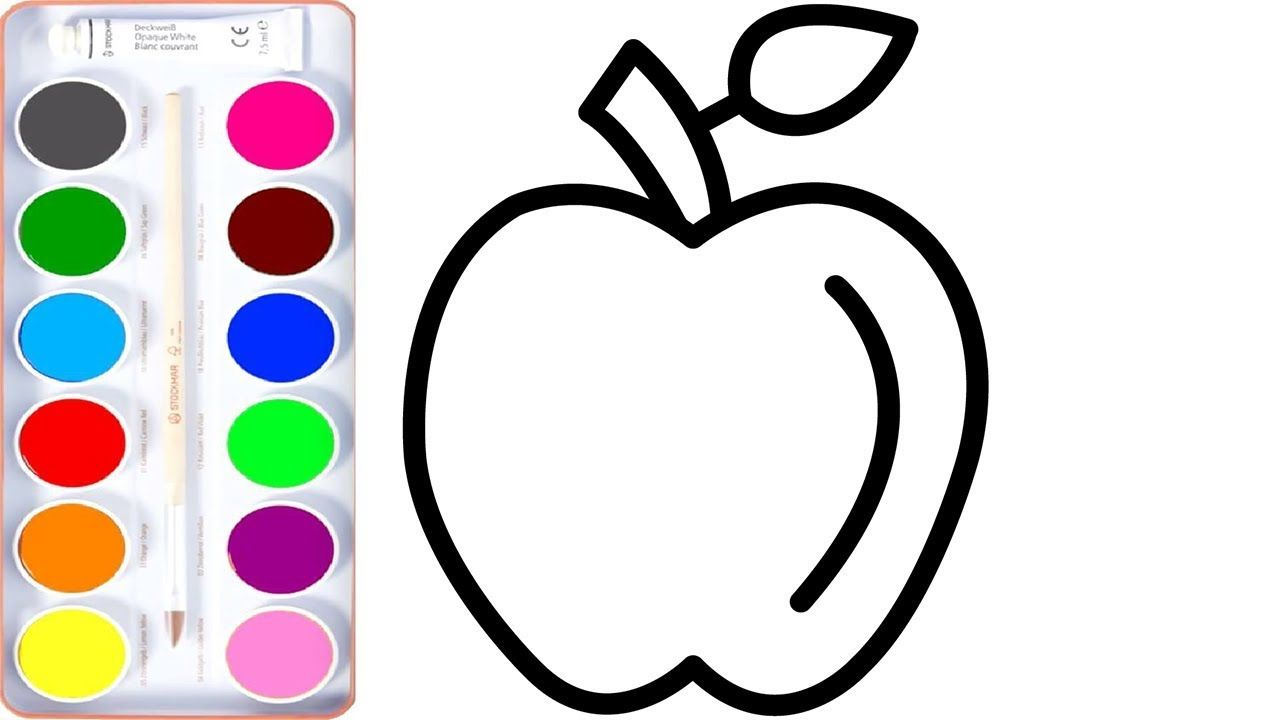 How To Draw Apple Apple Coloring Pages Learn Coloring Coloring Draw Kids Toddler Color Learning Apple Coloring Pages Toddler Drawing